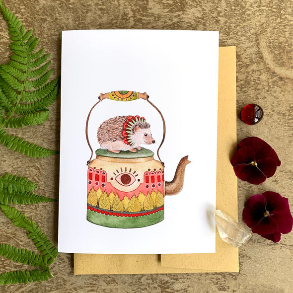 Woodland Kitchen: Michelle's Teapot - Greeting Card