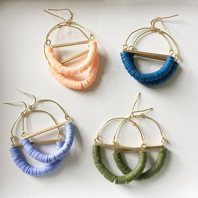 Terrain Beaded Hoop Earring