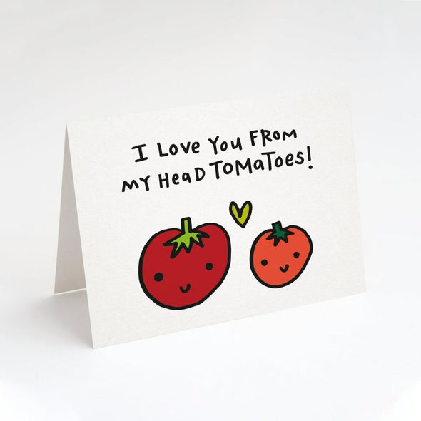 I Love You From My Head To Ma Toes Greeting Card