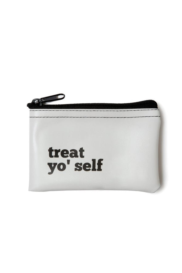 Treat Yo' Self Vinyl Zip Pouch