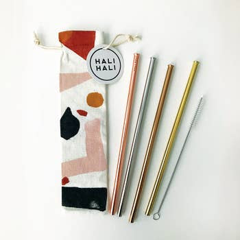6 Piece Reusable Straw Set- Assorted Patterns