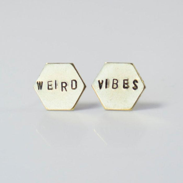 Weird Vibes Hexagon Studs