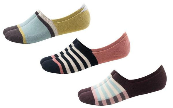 Basics Stripe Variety Pack No-Show Socks