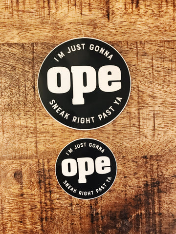 OPE STICKER