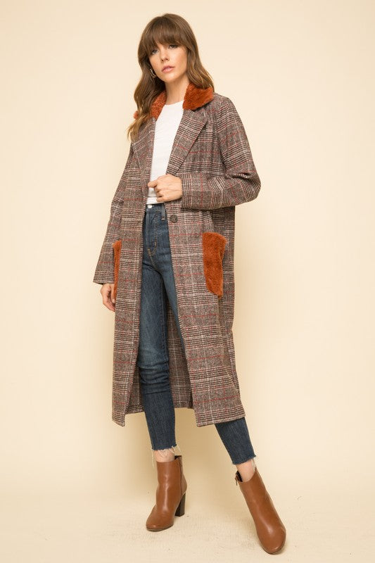 ABERNATHY PLAID COAT