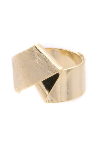 FOLDED BRASS RING