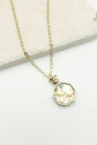 ABALONE + MOTHER OF PEARL NECKLACE