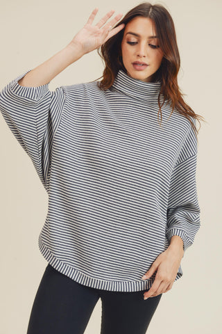 RACHEL STRIPE THERMAL TOP