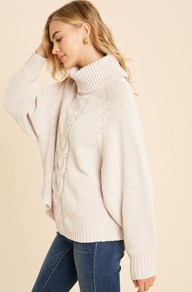 EMBERS CABLE KNIT SWEATER