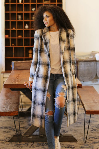DALLAS PLAID TRENCH COAT
