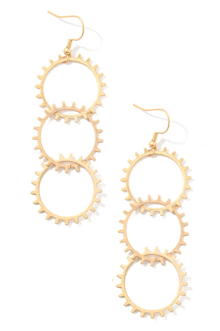 GEAR TIERED EARRINGS