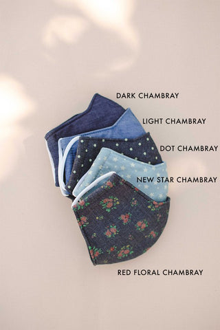 STAR CHAMBRAY FACE MASK