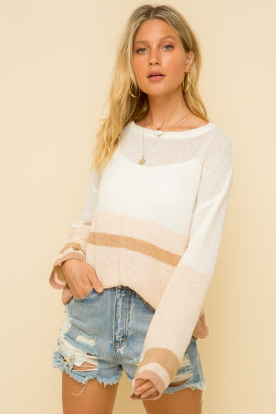SUMMER BLUSH SWEATER
