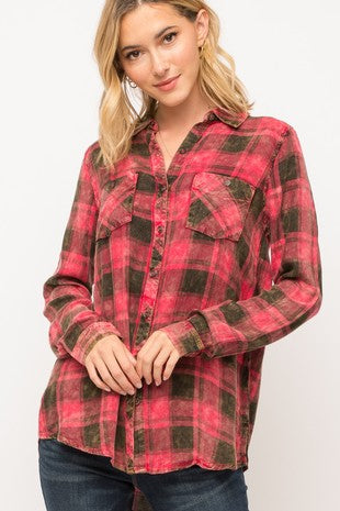 REDWOOD BUTTON-UP