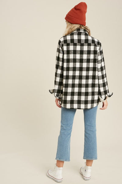 FARMHOUSE PLAID JACKET