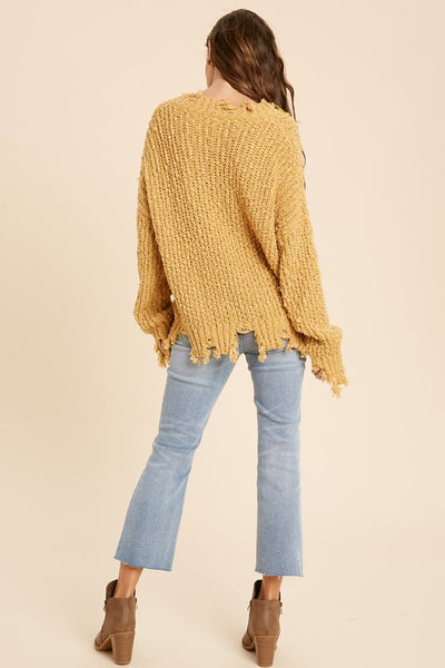 LAYLA DISTRESSED SWEATER