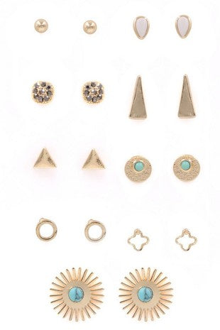 TOUCH OF TURQUOISE EARRING SET