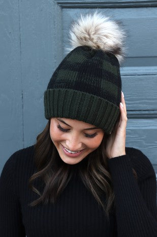 RED LODGE PLAID BEANIE