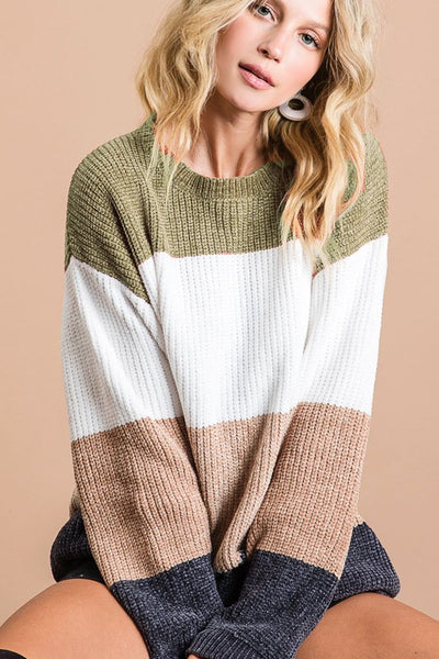 LAYTON COLOR BLOCK SWEATER