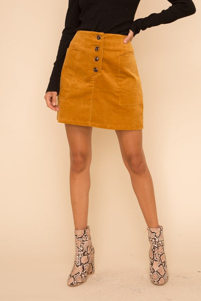 CARRINGTON CORDUROY SKIRT