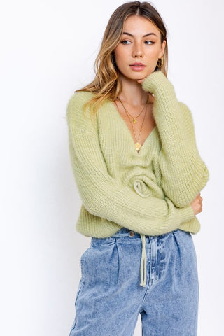CANTERBURY RUCHED SWEATER