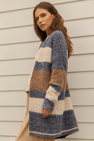 CARMELLA STRIPED CARDIGAN