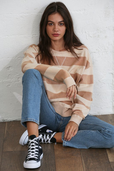 NASHVILLE STRIPED CREWNECK