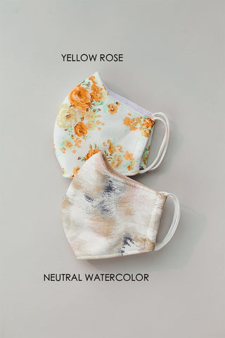 NEUTRAL WATERCOLOR FACE MASK