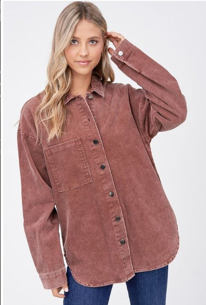 SHERWOOD CORDUROY BUTTON-UP