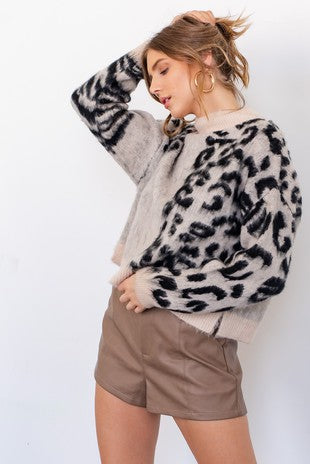 LEX ANIMAL PRINT SWEATER