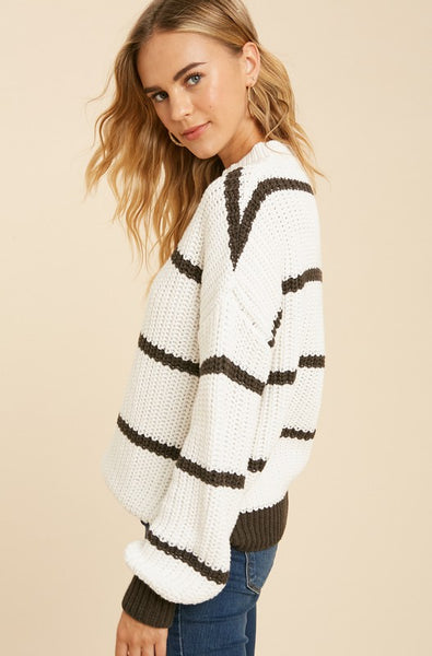 DAY AND NIGHT STRIPED SWEATER