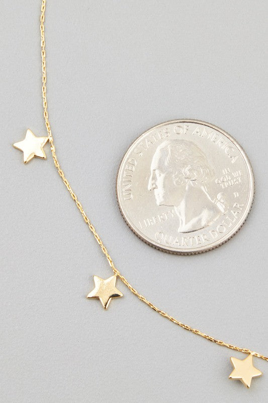 DAINTY STAR CHARM NECKLACE