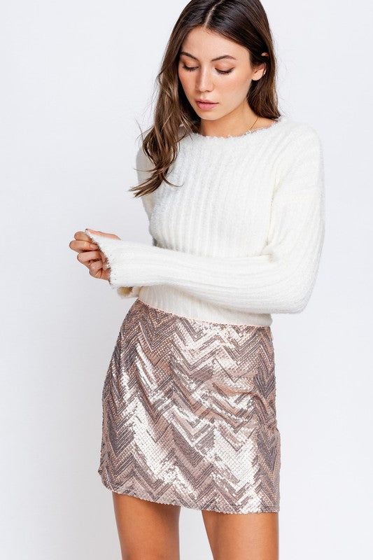 SNOWY NIGHT FITTED SWEATER