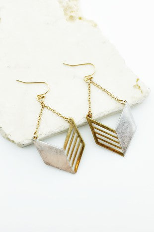 MIRA MIXED METAL EARRINGS