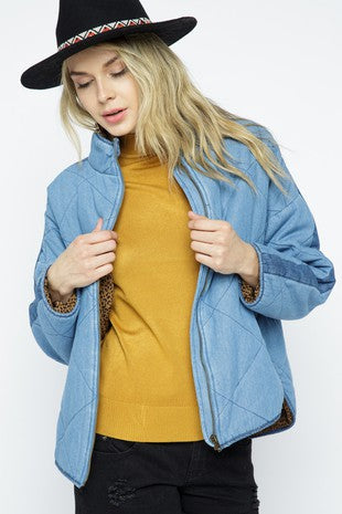 ANNIE QUILTED DENIM JACKET
