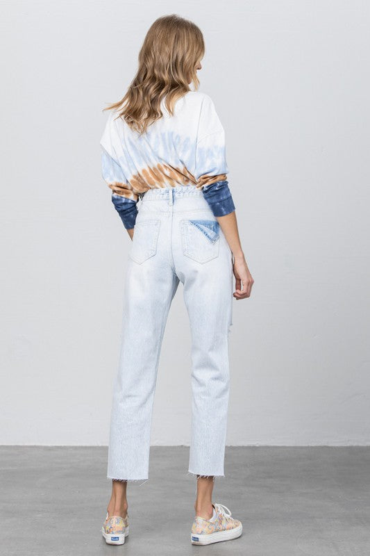 LUNA HIGH RISE STRAIGHT JEANS
