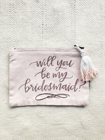BRIDESMAID ZIP POUCH