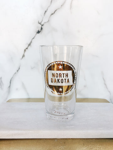 ND SEAL PINT GLASS