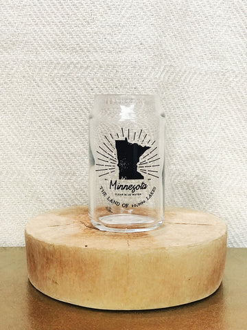 10,000 LAKES CAN SHOT GLASS