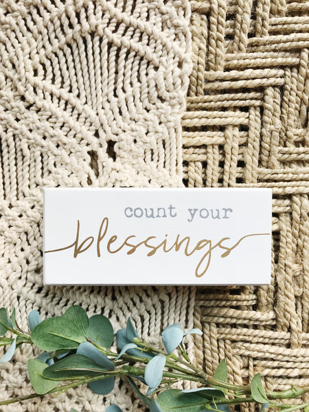 COUNT YOUR BLESSINGS BOX SIGN