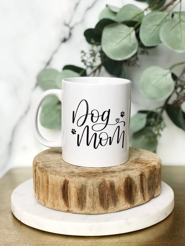 DOG MOM SCRIPT MUG