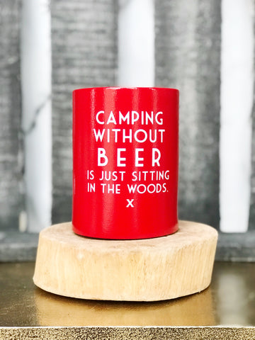 CAMPING VINTAGE CAN COOLER