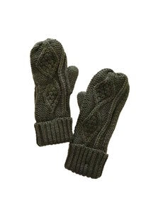 GRETA CABLE KNIT MITTENS