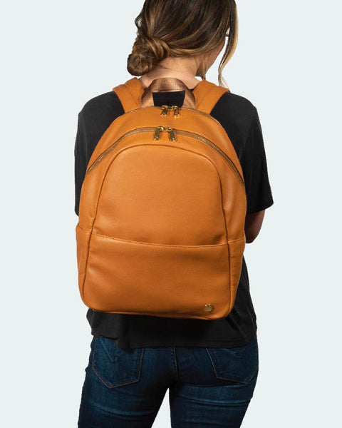SKYLINE BACKPACK · COGNAC