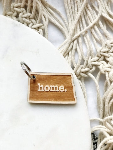 ND HOME WOOD KEYCHAIN