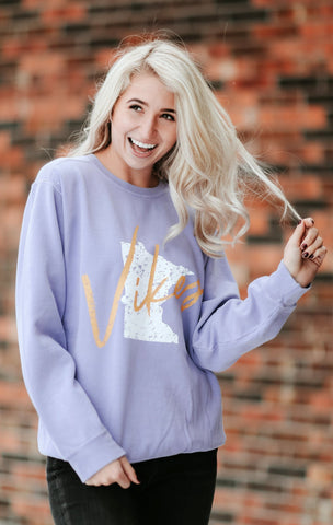 RETRO VIKINGS CREWNECK
