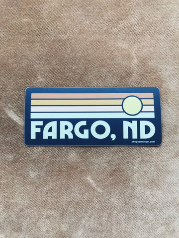 FARGO SUNSET STICKER