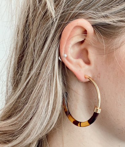 CARMELA HOOP EARRINGS
