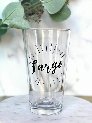 FARGO PINT GLASS