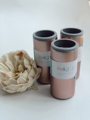 SWIG 12 OZ SKINNY CAN COOLER · ROSE GOLD